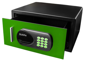 DUSAW Hotel Room safe green color