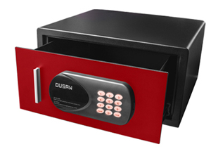 DUSAW Hotel Room safe red color